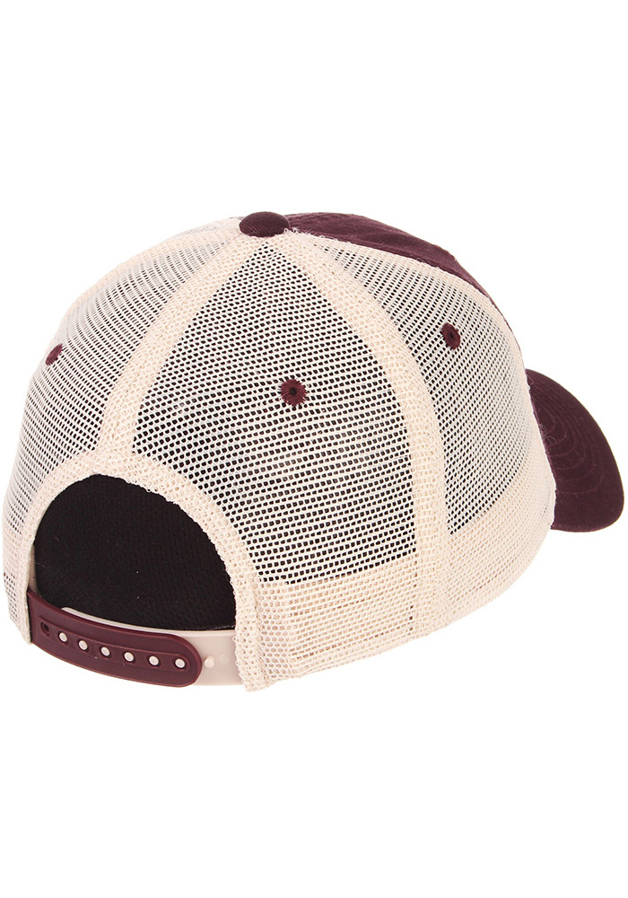 Zephyr Texas A&M Aggies University Meshback Adjustable Hat - Maroon - Image 2