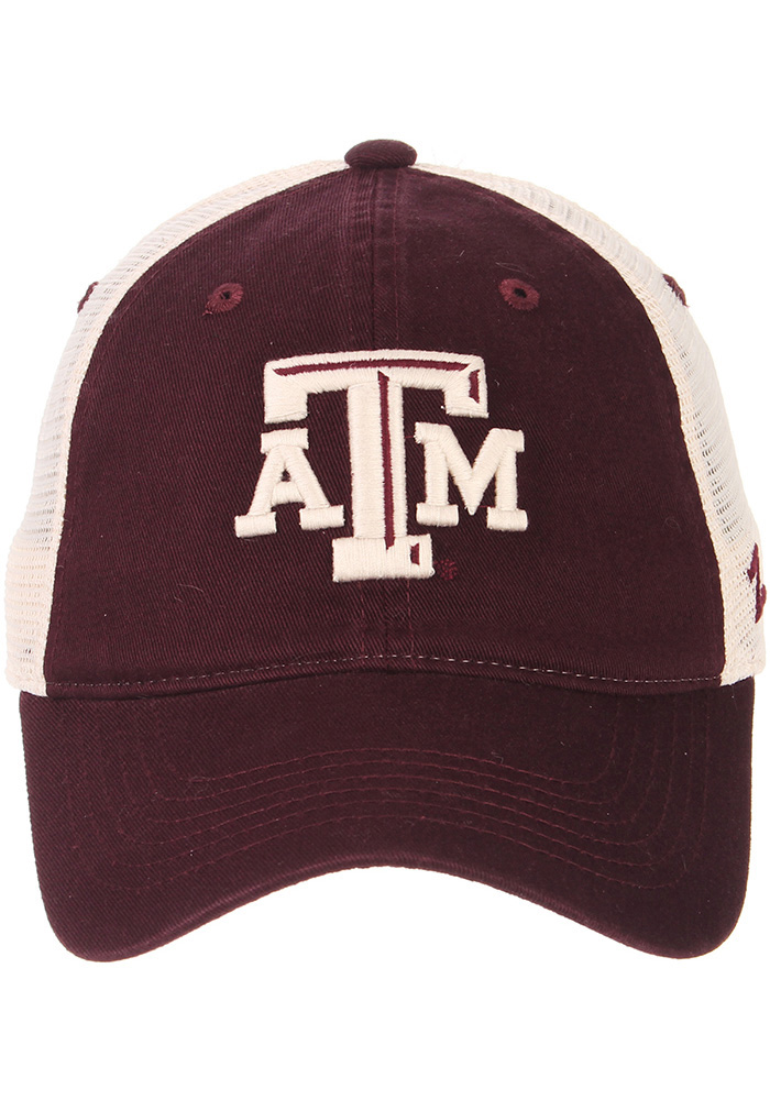 Zephyr Texas A&M Aggies University Meshback Adjustable Hat - Maroon - Image 3