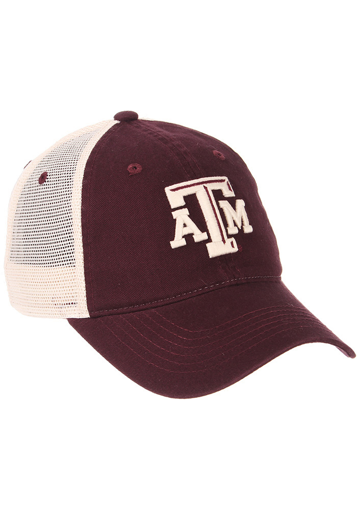 Zephyr Texas A&M Aggies University Meshback Adjustable Hat - Maroon - Image 4