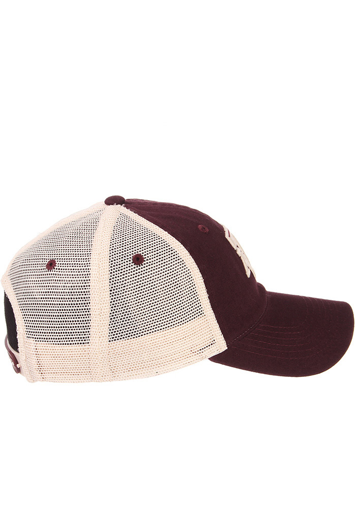 Zephyr Texas A&M Aggies University Meshback Adjustable Hat - Maroon - Image 5