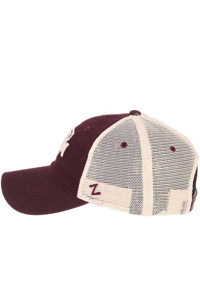 Zephyr Texas A&M Aggies University Meshback Adjustable Hat - Maroon - Image 7