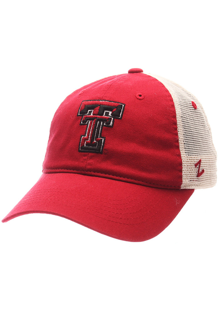 Zephyr Texas Tech Red Raiders University Meshback Adjustable Hat - Red - Image 1