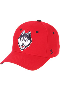 UConn Huskies DH Fitted Hat - Red