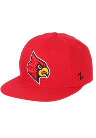 Louisville Cardinals M15 Flat Bill Fitted Hat - Red