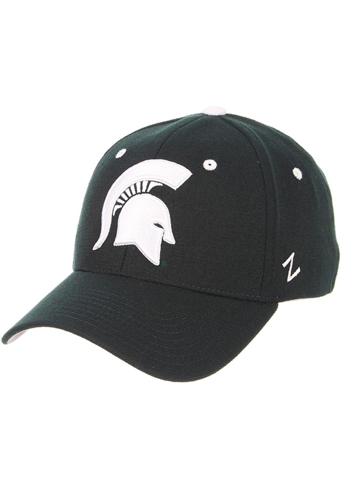 Zephyr Michigan State Spartans Mens Green ZH Flex Hat - Image 1