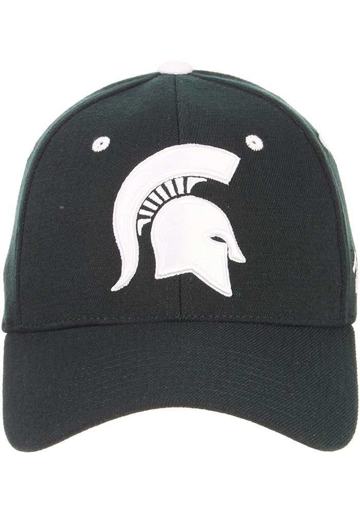 Zephyr Michigan State Spartans Mens Green ZH Flex Hat - Image 3