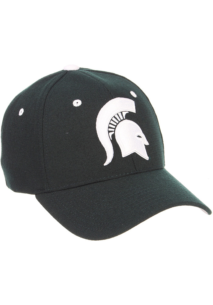 Zephyr Michigan State Spartans Mens Green ZH Flex Hat - Image 4