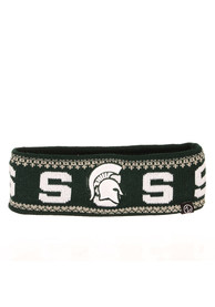 Michigan State Spartans Womens Zephyr Carousel Headband Knit - Green