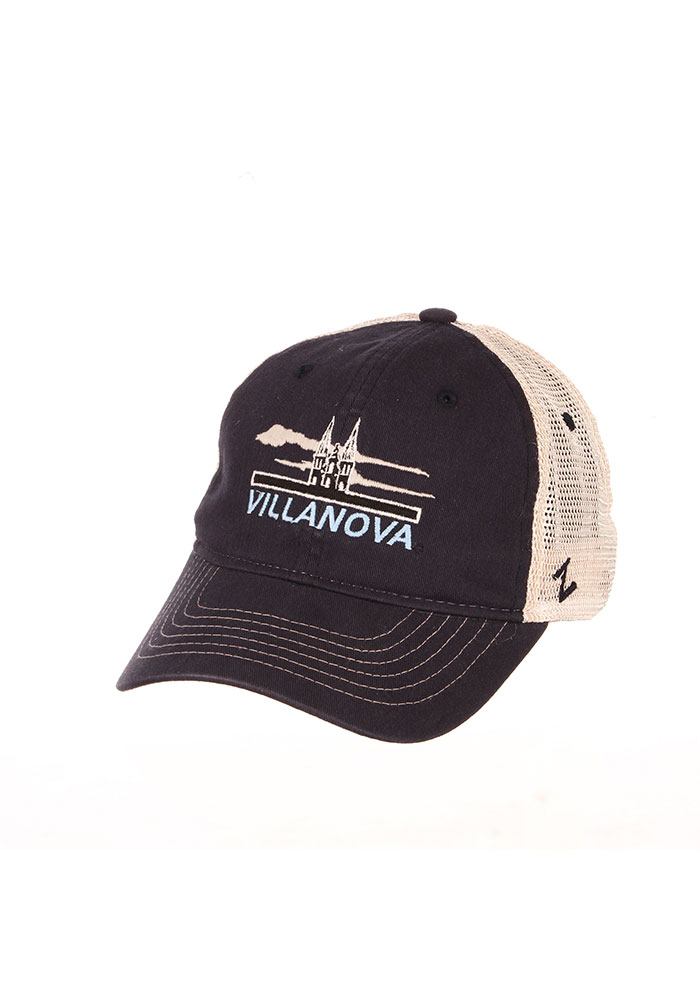 Zephyr Villanova Wildcats Lager Meshback Adjustable Hat - Navy Blue - Image 1