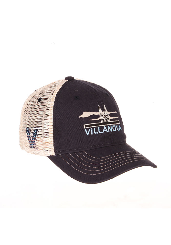 Zephyr Villanova Wildcats Lager Meshback Adjustable Hat - Navy Blue - Image 2