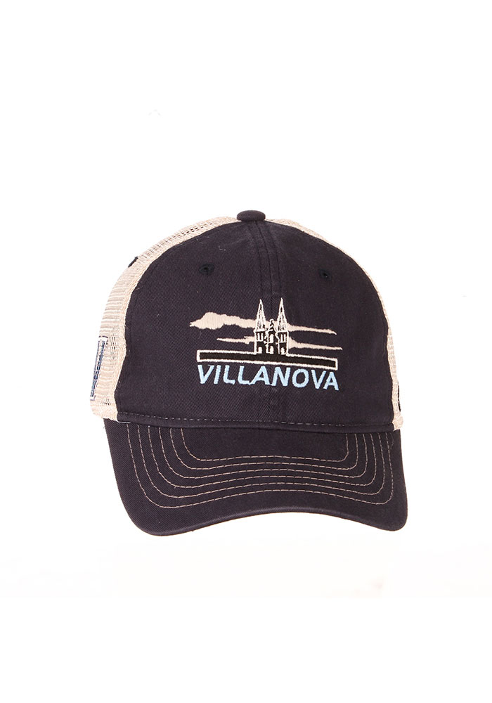 Zephyr Villanova Wildcats Lager Meshback Adjustable Hat - Navy Blue - Image 3