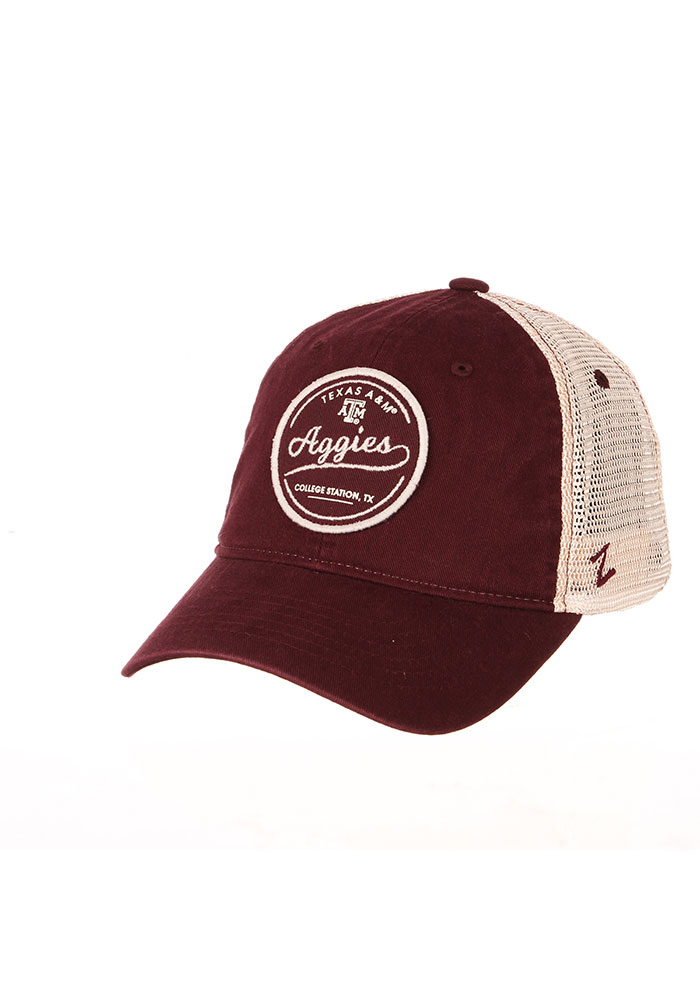 Texas A&M Aggies Zephyr Lager Meshback Adjustable Hat - Maroon