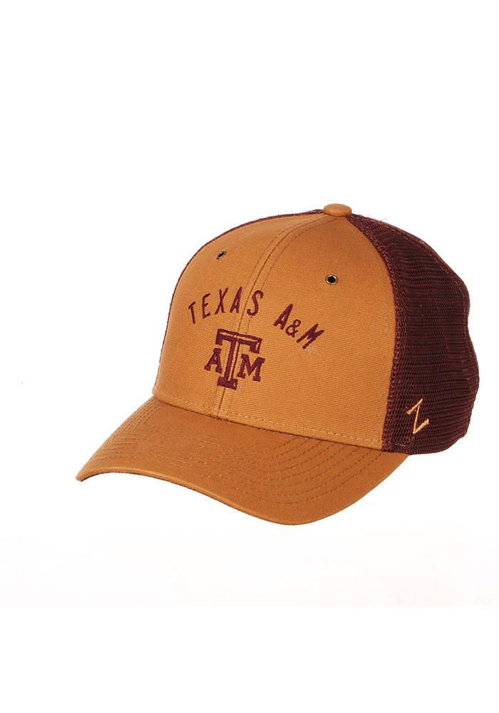 Texas A&M Aggies Zephyr Sahara Meshback Adjustable Hat - Brown