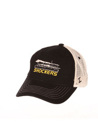 Wichita State Shockers Zephyr Destination Meshback Adjustable Hat - Black