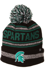 Michigan State Spartans Zephyr Jetty Cuff Pom Knit - Black