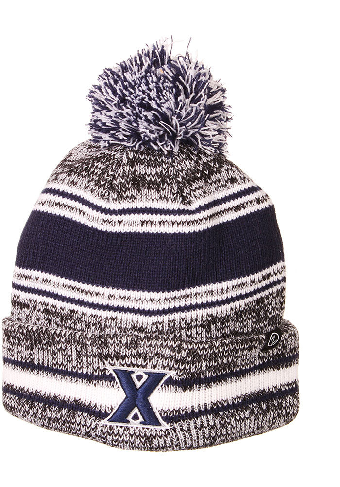 Zephyr Xavier Musketeers Grey Symmetry Cuff Pom Mens Knit Hat - Image 1
