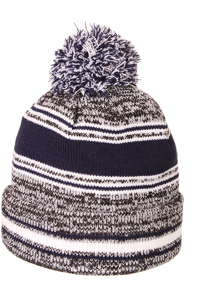 Zephyr Xavier Musketeers Grey Symmetry Cuff Pom Mens Knit Hat - Image 2