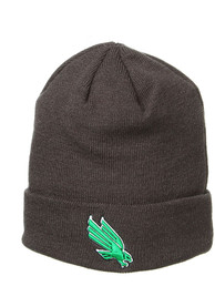 North Texas Mean Green Zephyr Cuff Knit - Charcoal