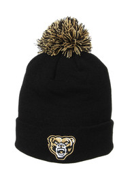 Oakland University Golden Grizzlies Zephyr Cuff Pom Knit - Black