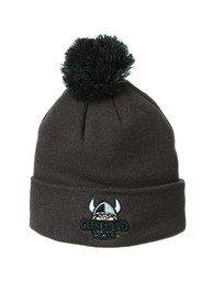 Cleveland State Vikings Zephyr Cuff Pom Knit - Charcoal