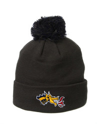 Drexel Dragons Zephyr Cuff Pom Knit - Charcoal