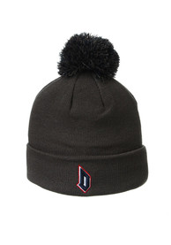 Duquesne Dukes Zephyr Cuff Pom Knit - Charcoal