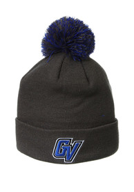 Grand Valley State Lakers Zephyr Cuff Pom Knit - Charcoal