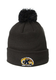 Kent State Golden Flashes Zephyr Cuff Pom Knit - Charcoal