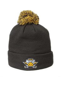 Northern Kentucky Norse Zephyr Cuff Pom Knit - Charcoal