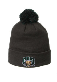 Ohio Bobcats Zephyr Cuff Pom Knit - Charcoal