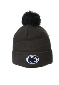 Penn State Nittany Lions Zephyr Cuff Pom Knit - Charcoal