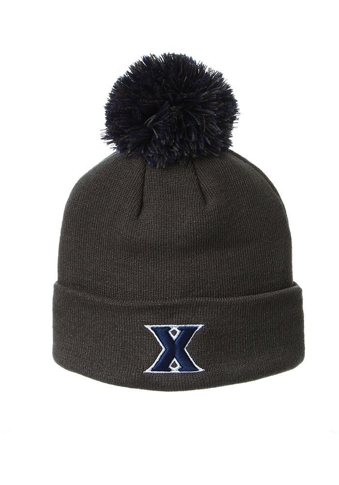Xavier Musketeers Zephyr Cuff Pom Knit - Charcoal