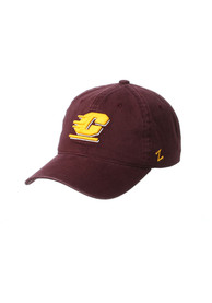 Central Michigan Chippewas Zephyr Scholarship Adjustable Hat - Maroon