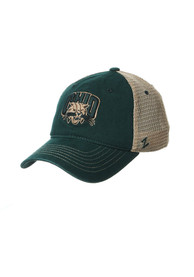 Ohio Bobcats Zephyr Columbus Meshback Adjustable Hat - Green