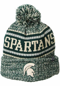 Michigan State Spartans Zephyr Lincoln Retro Pom Knit - Green