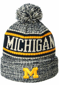 Michigan Wolverines Zephyr Springfield Cuff Pom Knit - Navy Blue