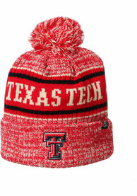 Texas Tech Red Raiders Zephyr Springfield Cuff Pom Knit - Red