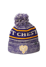 West Chester Golden Rams Zephyr Springfield Cuff Pom Knit - Purple