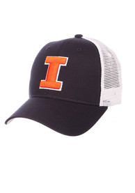 Illinois Fighting Illini Zephyr Big Rig Meshback Adjustable Hat - Navy Blue
