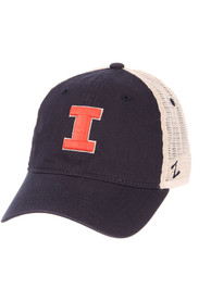 Illinois Fighting Illini Zephyr University Meshback Adjustable Hat - Navy Blue
