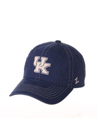 Kentucky Wildcats Zephyr Solo Washed Adjustable Hat - Blue