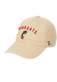 Cincinnati Bearcats Zephyr Wordmark Scholarship Adjustable Hat - Khaki