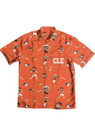 Baker Mayfield Cleveland Browns Hawaiian Dress Shirt - Orange