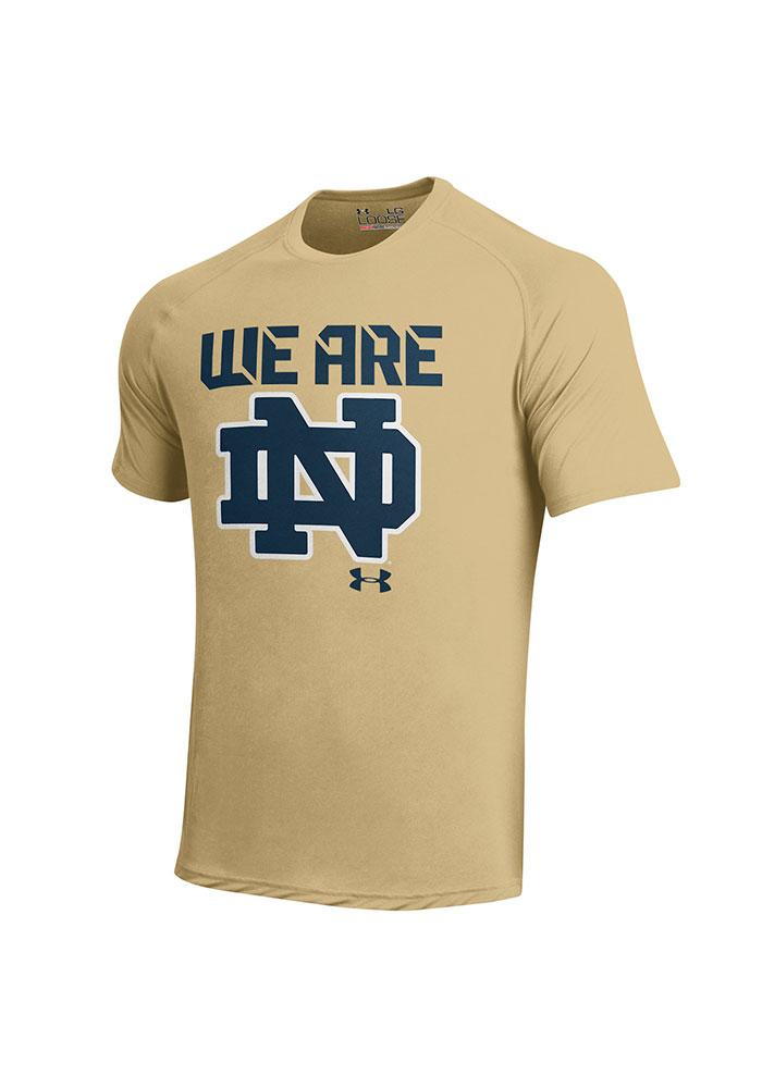 Under Armour Notre Dame Fighting Irish Gold We Are Short Sleeve T Shirt - Image 1