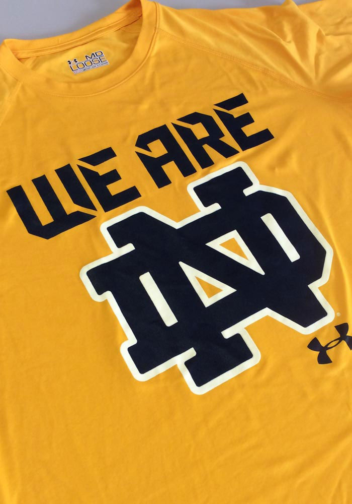 Under Armour Notre Dame Fighting Irish Gold We Are Short Sleeve T Shirt - Image 2