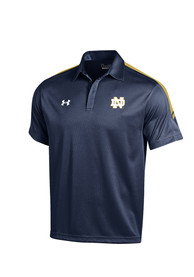 Under Armour Notre Dame Fighting Irish Mens Navy Blue Huddle Polo Short Sleeve Polo Shirt