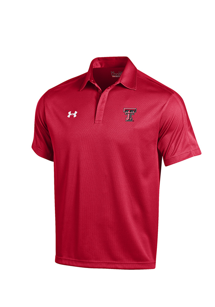 Under Armour Texas Tech Mens Red Huddle Polo Short Sleeve Polo Shirt 55290312