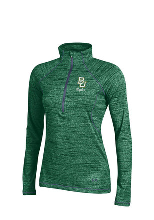 Under Armour Baylor Womens Space Tech Green 1/4 Zip Performance Pullover