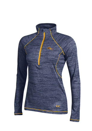 Under Armour Drexel Dragons Womens Space Tech Navy Blue 1/4 Zip Pullover