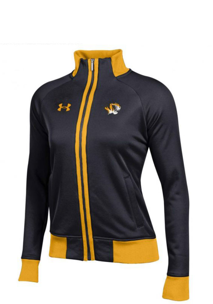 Under Armour Missouri Tigers Juniors Black Triad Long Sleeve Track Jacket - Image 1